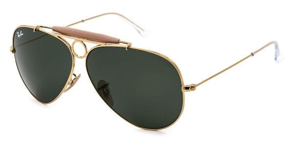 945d821f94a Ray-Ban RB3138 Shooter 001 Sunglasses Gold