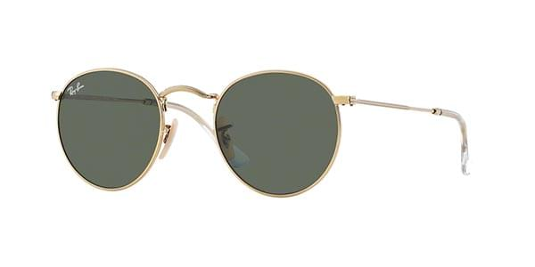 9f1e0bc66fc Ray-Ban RB3447 Round Metal 001 Sunglasses in Gold