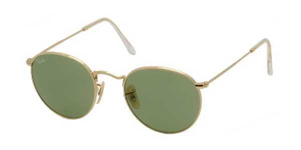 458348365a Ray-Ban RB3447 Round Metal 001 14 Sunglasses Gold