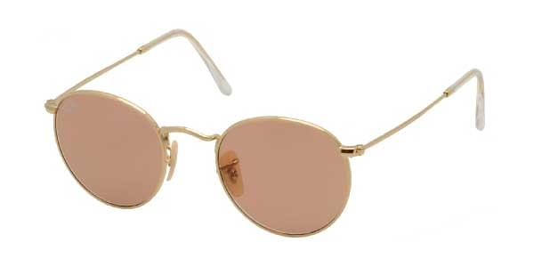 7b122915a3f Ray-Ban RB3447 Round Metal 001 4B Sunglasses Gold