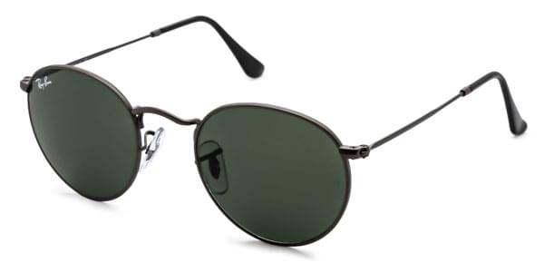 Ray-Ban RB3447 Round Metal 029 Sunglasses Grey   SmartBuyGlasses New ... 7830fed8df58