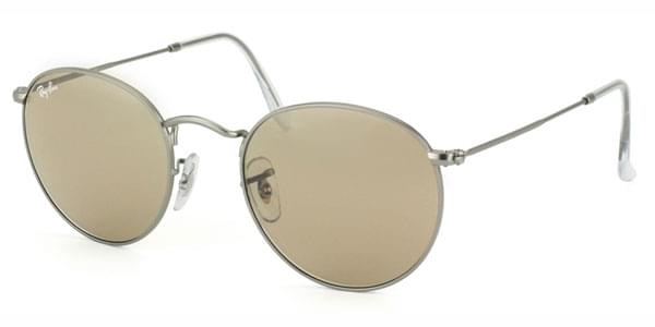 612a632fd3 Ray-Ban RB3447 Round Metal 029 53 Sunglasses in Grey ...
