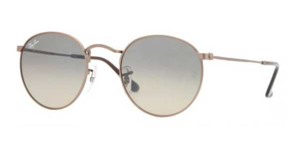 9124710586e05 Ray-Ban RB3447 Round Metal 101 28 Sunglasses in Brown ...