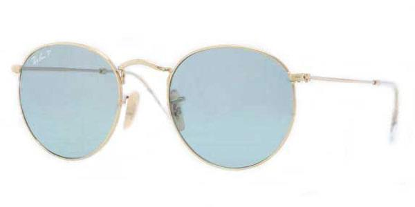 055aa1c52df Ray-Ban RB3447 Round Metal 001 3R Sunglasses Gold