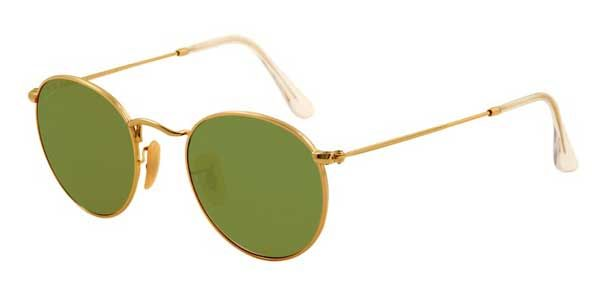 0ee374bfb3 Ray-Ban RB3447 Round Metal Polarized 001 P1 Sunglasses in Gold ...