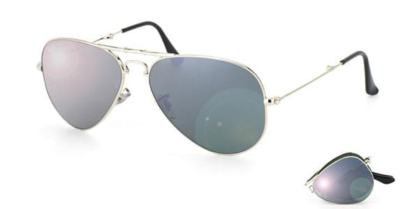 37a91fb499d Ray-Ban RB3479 Folding Aviator 003 40 Sunglasses in Silver ...
