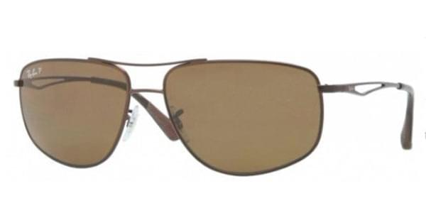 0b9c6730de0 Ray-Ban RB3490 Active Lifestyle Polarized 012 83 Sunglasses Brown ...