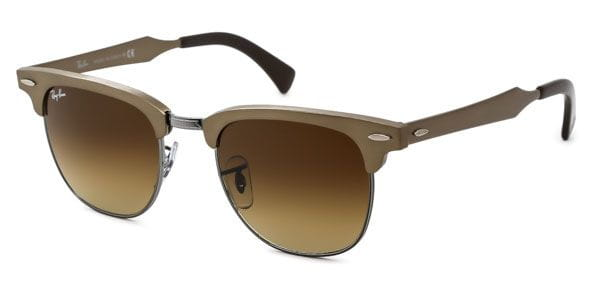 dc9f76bec3c6 Ray-Ban RB3507 Clubmaster Aluminium 139 85 Sunglasses Brown ...