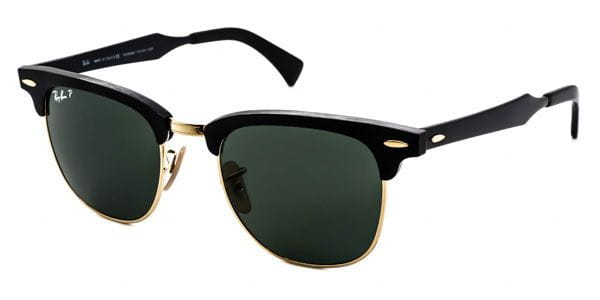 385101cb19496 Ray-Ban RB3507 Clubmaster Aluminium Polarized 136 N5 Sunglasses ...