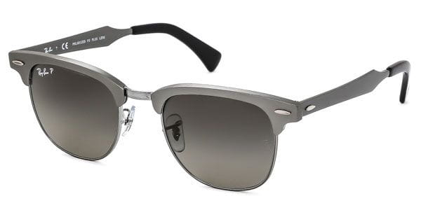 659c1d131d16c Ray-Ban RB3507 Clubmaster Aluminium Polarized 138 M8 Sunglasses Grey ...