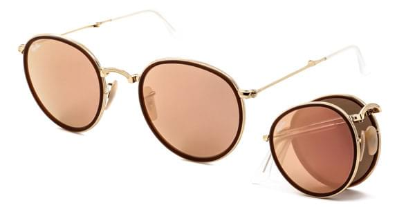 8761f312ffaa3 Ray-Ban RB3517 Round Folding 001 Z2 Sunglasses Gold ...