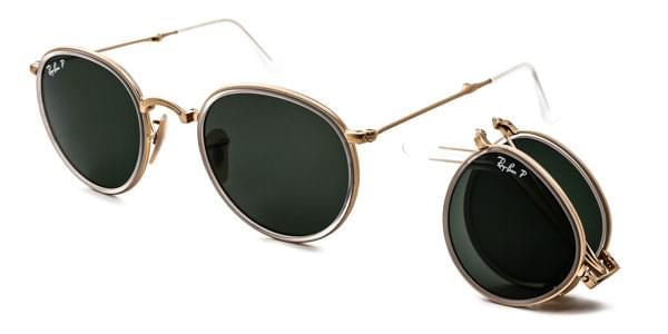 Ray-Ban RB3517 Round Folding 112 N5 Sunglasses Gold ... 552cce3ca7