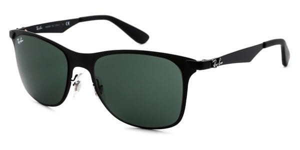 126c04dc19 Ray-Ban RB3521 Wayfarer Flat Metal 006 71 Sunglasses Black ...
