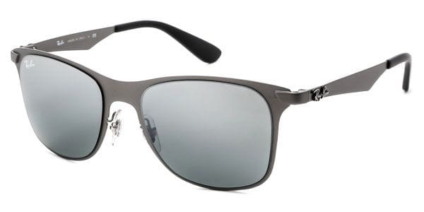 eaa8265160 Ray-Ban RB3521 Wayfarer Flat Metal 029 88 Sunglasses Grey ...