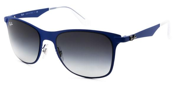 b703a3eccb Ray-Ban RB3521 Wayfarer Flat Metal 161 8G Sunglasses Blue ...