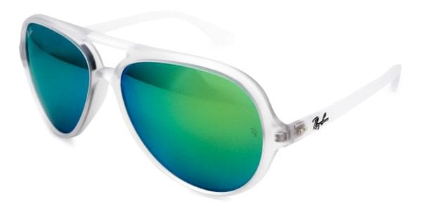 Ray-Ban RB4125 Cats 5000 Flash Lenses 646 19 Sunglasses Clear ... db00309d8450