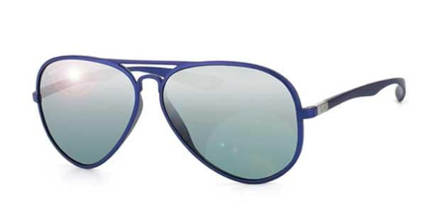 cd69be84a45 Lentes de Sol Ray-Ban RB4180 Aviator Liteforce 6015 88 Azul ...