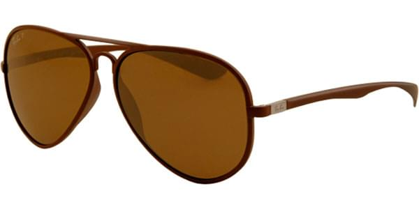 731e86bdaa3 Ray-Ban RB4180 LiteForce Polarized 881 83 Sunglasses Brown ...