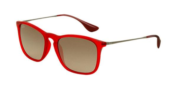 4f9ef7fb32 Ray-Ban RB4187F Chris Asian Fit 898 11 Sunglasses Red ...