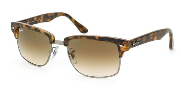 02381abf00 Ray-Ban RB4190 Clubmaster Square 878 51 Sunglasses Tortoise ...