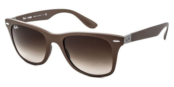 9b2b53112 Ray-Ban RB4195 Wayfarer Liteforce 6033/13 Sunglasses Brown ...