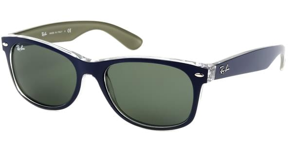 1c6b9a18b0 Ray-Ban RB2132 New Wayfarer Bicolor 6188 Sunglasses Blue ...