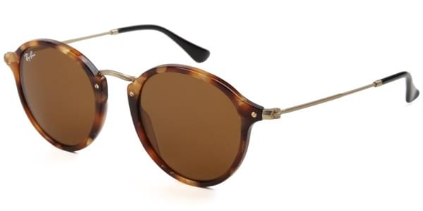 Ray-Ban RB2447 Round Fleck 1160 Sunglasses Brown   VisionDirect ... 8a13c16d2b
