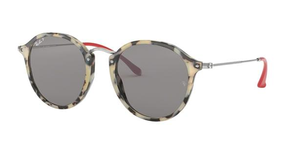 dfff6953a8f Ray-Ban RB2447 Round Fleck Polarized 1247P2 Sunglasses Tortoise ...
