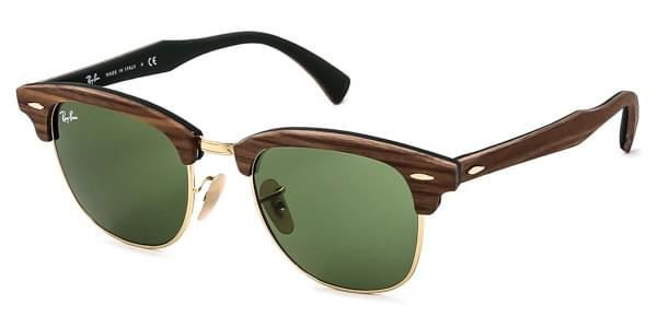e79401a0edc Ray-Ban RB3016M Clubmaster Wood 11824E Sunglasses Brown ...
