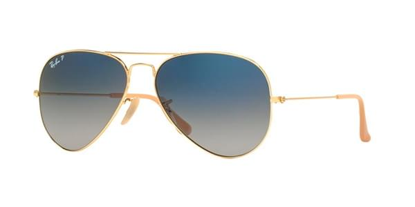 73b7d17b8d Ray-Ban RB3025 Aviator Gradient Polarized 001 78 Sunglasses Gold ...