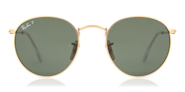 d0382807314 Ray-Ban RB3447 Round Metal Polarized 112 58 Sunglasses Gold ...