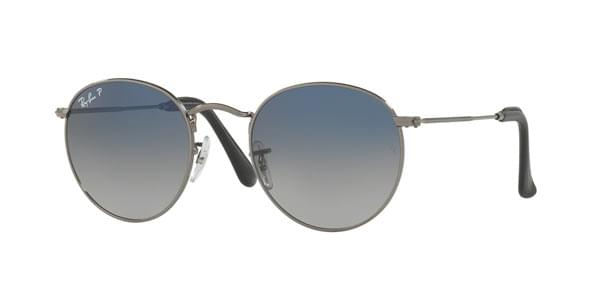 091592db5a Ray-Ban RB3447 Round Metal Polarized 004 78 Sunglasses Grey ...