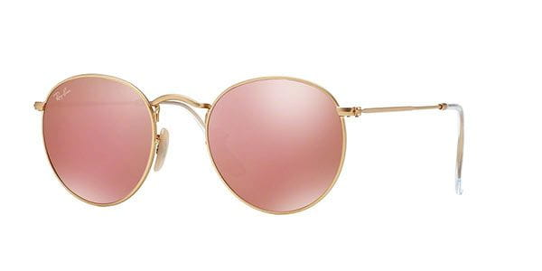 822c9cec2e1 Ray-Ban RB3447 Round Metal 112 Z2 Sunglasses Gold