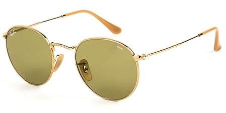 16a56248a Ray-Ban RB3447 Round Metal 001 Sunglasses Gold | VisionDirect Australia
