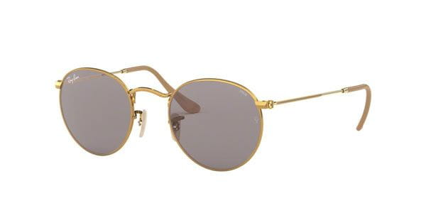6d51fdbabf19 Ray-Ban RB3447 Round Metal 9064V8 Sunglasses Gold | SmartBuyGlasses ...
