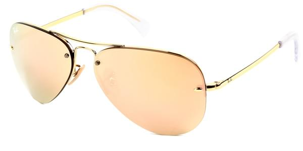 2409c569ae408 Ray-Ban RB3449 Highstreet 001 2Y Sunglasses Gold   SmartBuyGlasses India