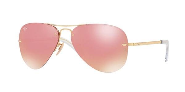 af1655e3768be Ray-Ban RB3449 Highstreet 001 E4 Sunglasses Gold   SmartBuyGlasses India