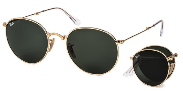 df6b29176f Ray-Ban RB3532 Round Folding 001 Sunglasses Gold