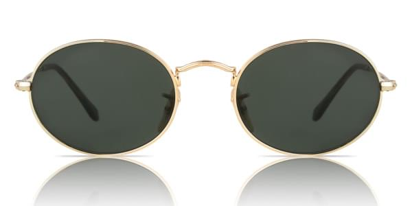 Ray-Ban RB3547N Oval Flat Lenses 001 Sunglasses in Gold ...