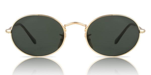 c4fd664adeb Ray-Ban RB3547N Oval Flat Lenses 001 Sunglasses Gold ...
