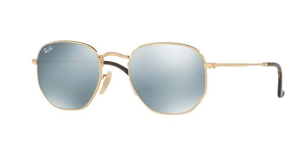 3054eaad01 Ray-Ban RB3548N Hexagonal Metal Flat Lenses 001 30 Sunglasses Gold ...