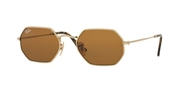 64844f57a0 Ray-Ban RB3556N Octagonal 001 33 Sunglasses Gold
