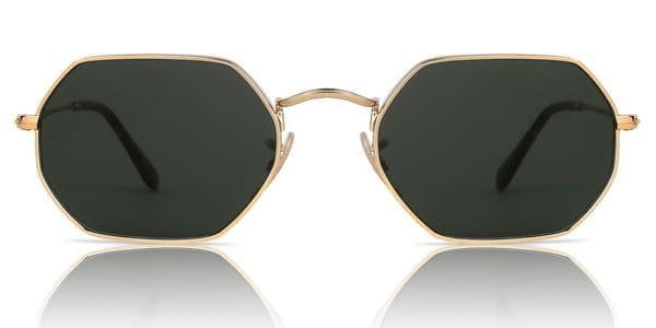 e2cacbcdeb Ray-Ban RB3556N Octagonal 001 Sunglasses Gold
