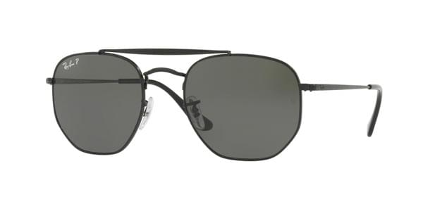 Óculos de Sol Ray-Ban RB3648 The Marshal Polarized 002 58 Preto ... 37bc3f22af