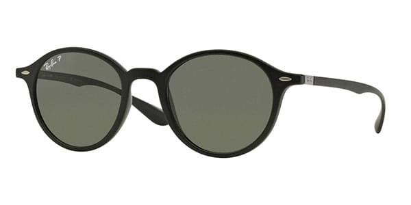 2746d8cbe1 Ray-Ban RB4237 Round LiteForce Polarized 601S58 Sunglasses Black ...