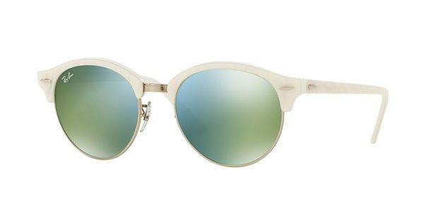 1847e246babed4 Ray-Ban RB4246 Clubround 988 2X wit Zonnebril Kopen