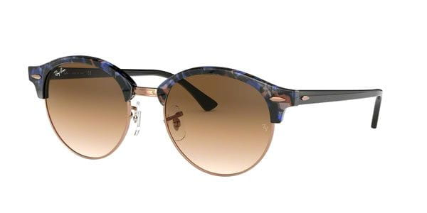 d1bc556b0e70f0 Ray-Ban RB4246 Clubround 125651 blauw Zonnebril Kopen ...