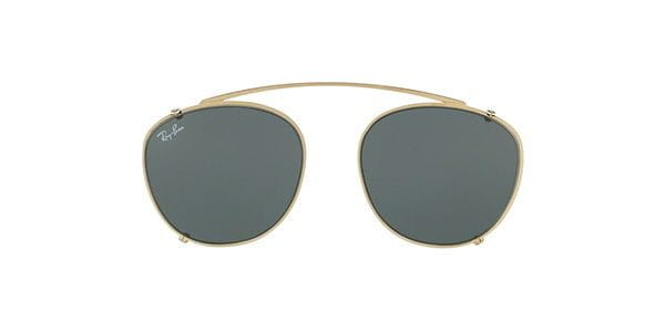 ray ban rx6355c clip on 250071 sonnenbrille gold smartbuyglasses