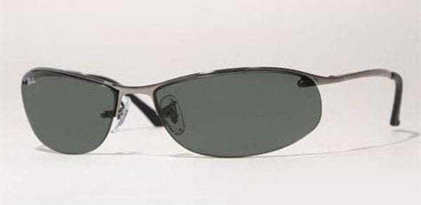 6ec4fa19e2f Ray-Ban RB3179 Top Bar Oval 004 71 Sunglasses in Grey ...