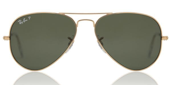 afca3c24c0f Ray-Ban RB3025 Aviator Polarized 001 58 Sunglasses Gold ...